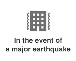 In the event of a major earthquake